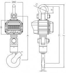 Крановые весы CAS Caston-III-THD