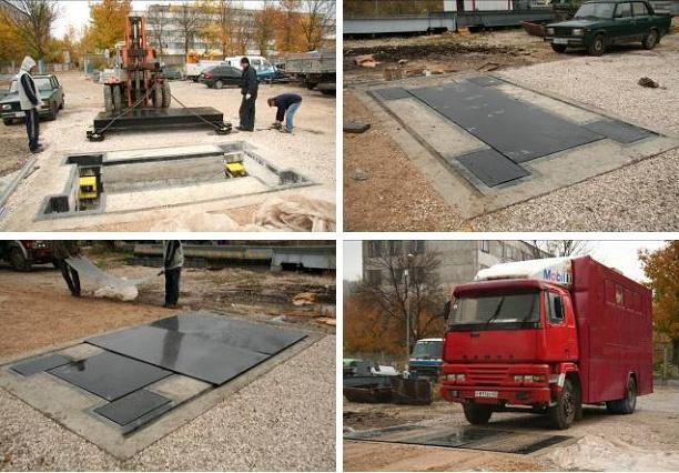 Установка автомобильных весов ВА-40Д